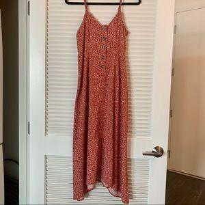 Primark Red Floral Midi Dress